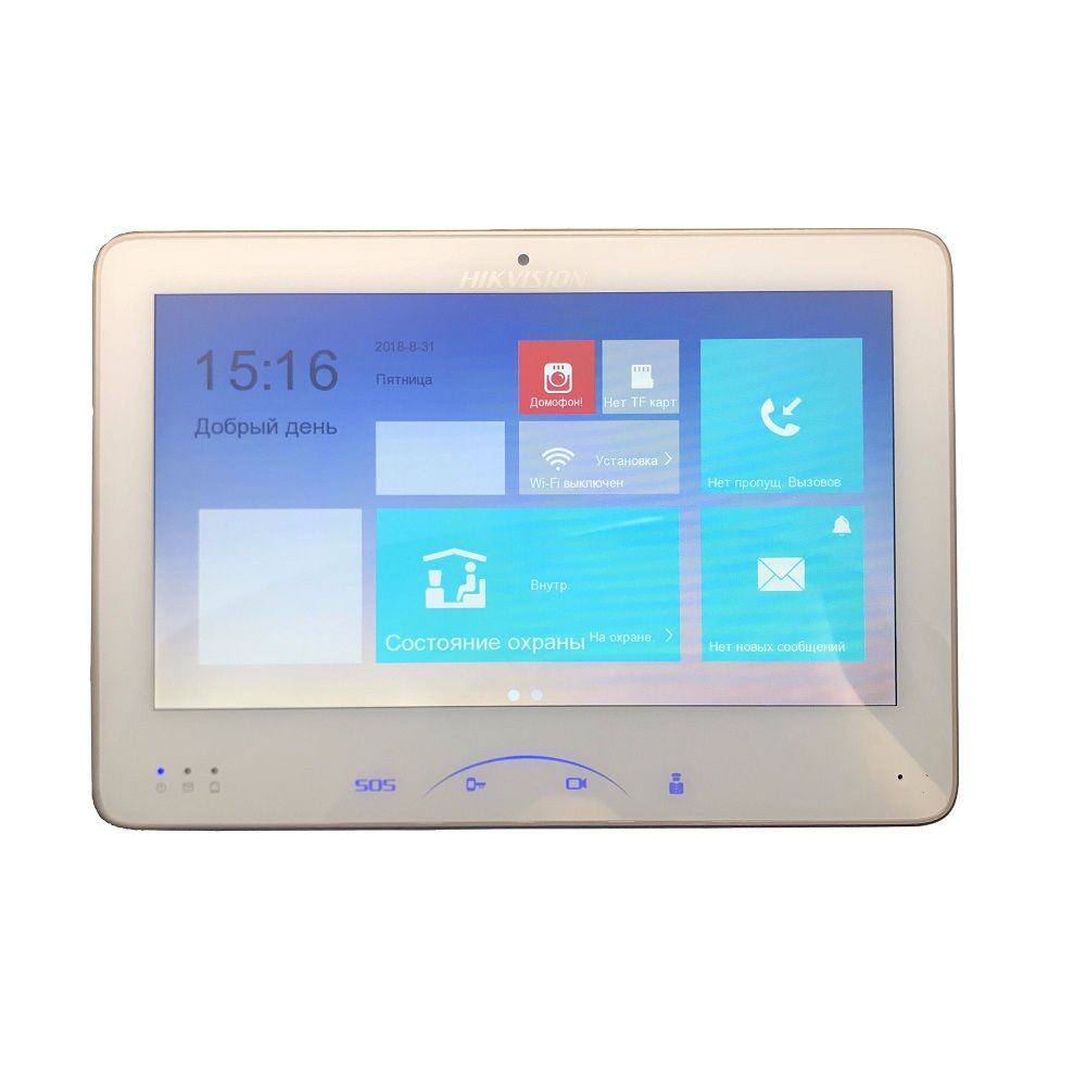 Hikvision DS-KH8501-A (DS-KH8501-WT) Indoor Video Touchscreen 10-zoll Monitor 1024X600 0.3MP kamera, wired türklingel