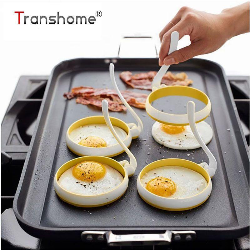Tronzo Oeuf Outils 2 pcs/ensemble Haute Température Ronde Silicone Omelette Machine Cercle En Forme D'oeuf au Plat Moule Cuisson Pâtisserie Outil
