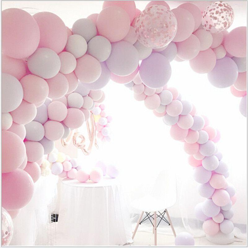 100pc/lot 10 inch Macaron Latex balloons Wedding Birthday Decoration Globos Baby Shower Girl Birthday Party Helium Balloon New