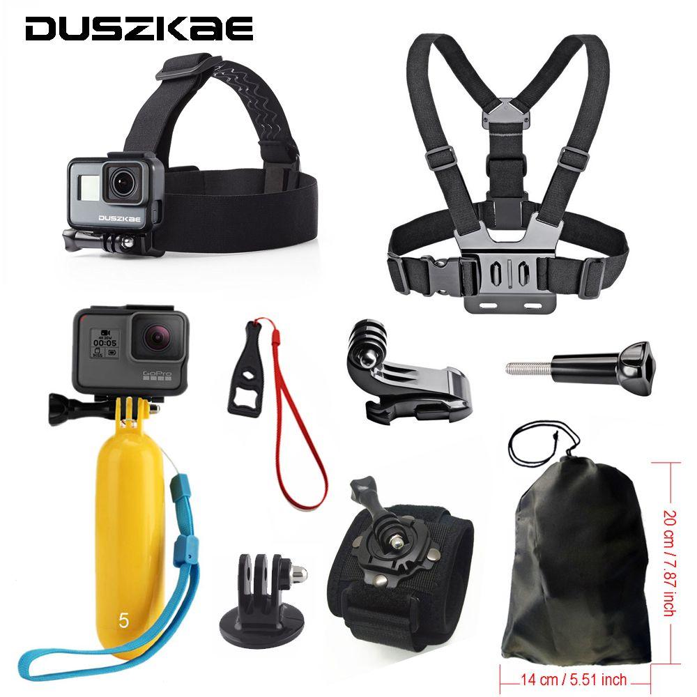 Accessories set for Gopro <font><b>hero</b></font> 5 For Yi 4K Chest Head Mount Strap Float bobber For Go pro SJCAM For Eken Sport Action Camera