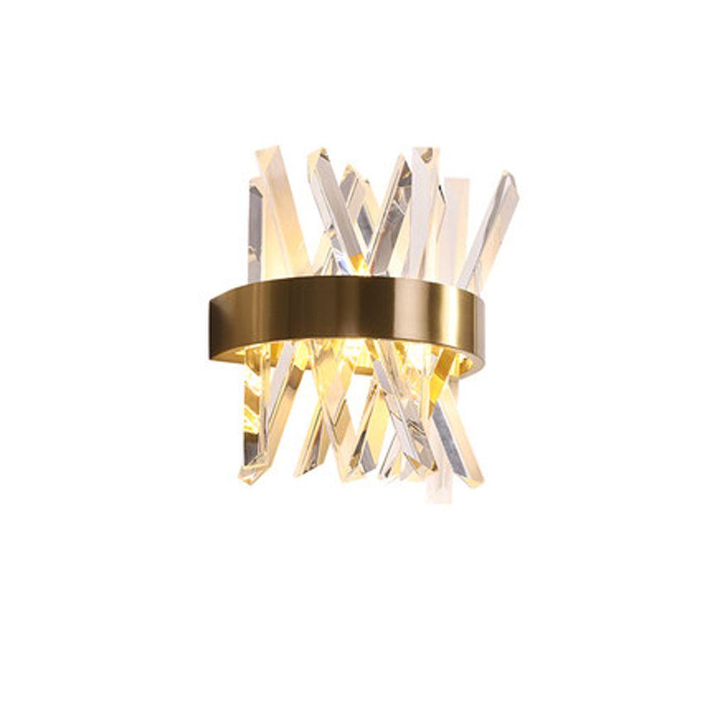 luxury design crystal wall lamp modern LED wall lights Dia25*H33cm lustre living room bedroom light