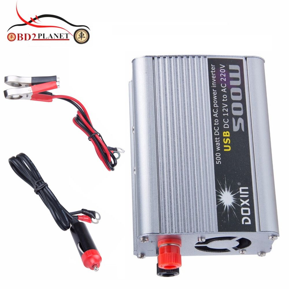 Universal 500W Car Power Inverter Converter DC 12V to AC 220V Car Battery Charger Power Supply Adapter with USB Port