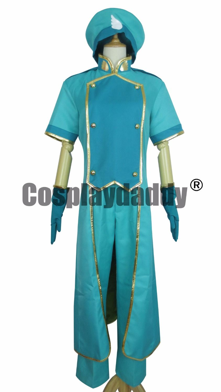 Cardcaptor Sakura Syaoran Li Showron Green Uniform Outfit Cosplay Costume A018