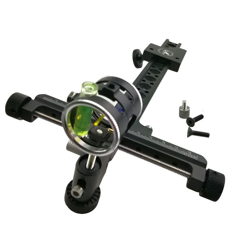 1pc Archery CNC 1Pin Compound Bow Sights Aluminum Adjustable Micro Bow Sight Hunting Accessories