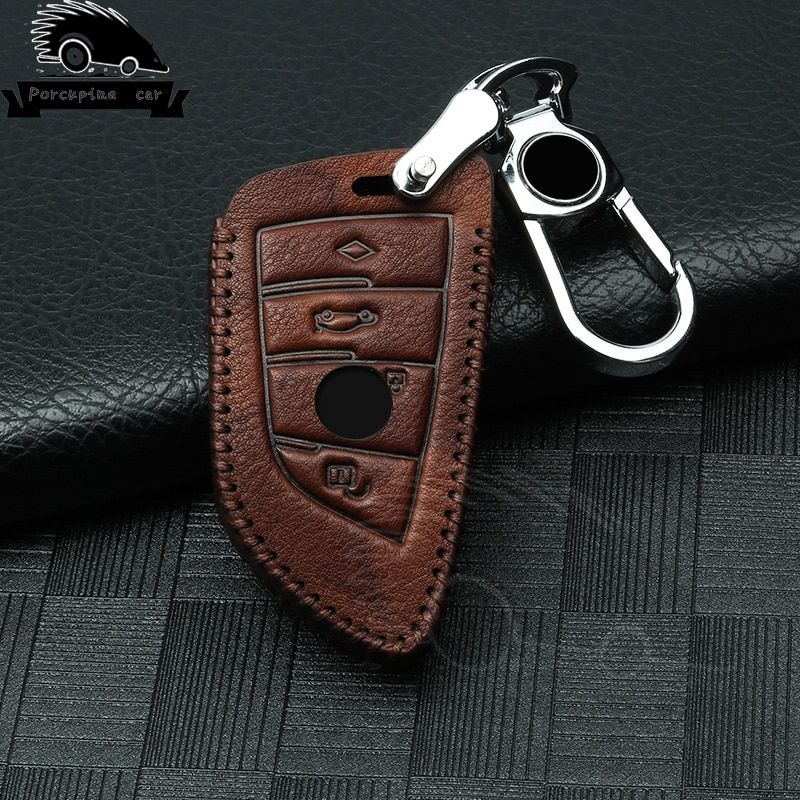 Genuine Leather Car Key Case Cover For Bmw X5 F15 E53 X1 F48 X3 E83 X4 G30 F10 F31 F30 E30 E38 E39 E46 F07 Key Shell Accessories