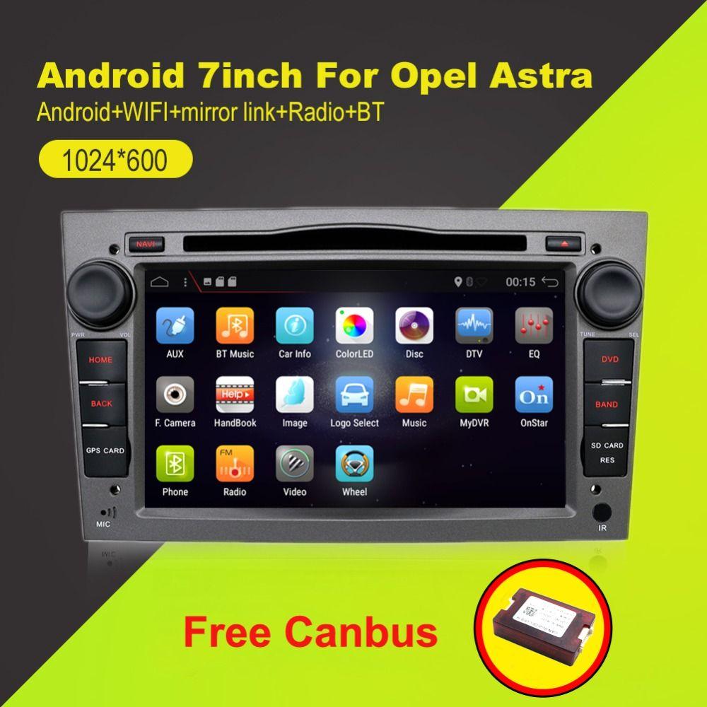 2 din Quad Core Android 7.1 Auto band recorder GPS DVD Player Für Opel Astra H Vectra Corsa Zafira B C G unterstützung OBD2