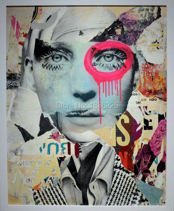 Hübscher menschen Gesicht Ölgemälde so cool menschen Handgemalte Pop Kunst Moderne Abstrakte Gemälde magazin wand kunst Wohnkultur