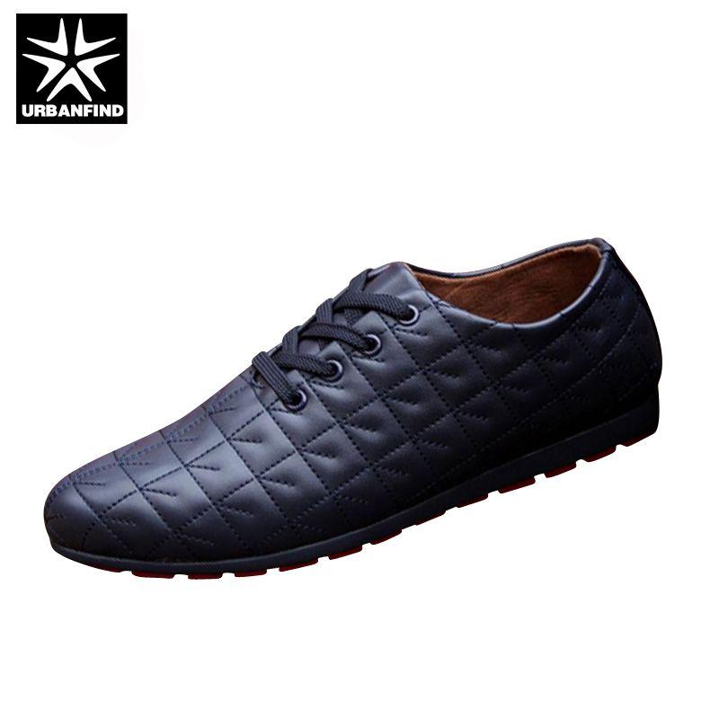 Urbanfind/мужские на шнуровке Повседневная обувь черный/белый цвет/синий ЕС размеры 39–44 брендовая модная мужская кожаная обувь для весна/осень