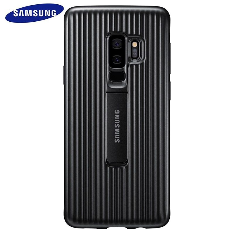Samsung Galaxy S9 S 9 Plus Protective Standing Cover Smart Phone Case 360 Cute Armor Luxury Flip S9plus Original Back Cover