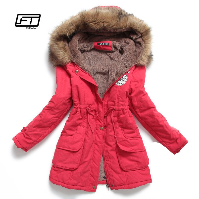 new winter women jacket medium-long thicken plus size 4XL outwear hooded wadded coat slim parka cotton-padded jacket overcoat