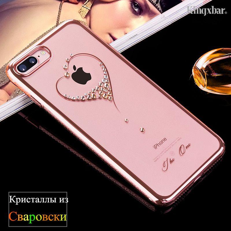 KINGXBAR for iPhone X 6 7 8 Plus Case Swarovski Element Crystals Diamond Luxury Case for iPhone 8 Plus 7 Plus Cover Phone Coque