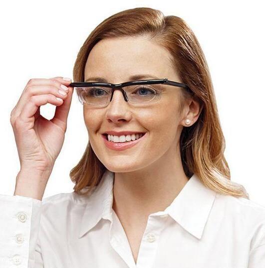 Adjustable Lens Eyeglass For Men Women Gift Magnifying Glass Action Toy Figures