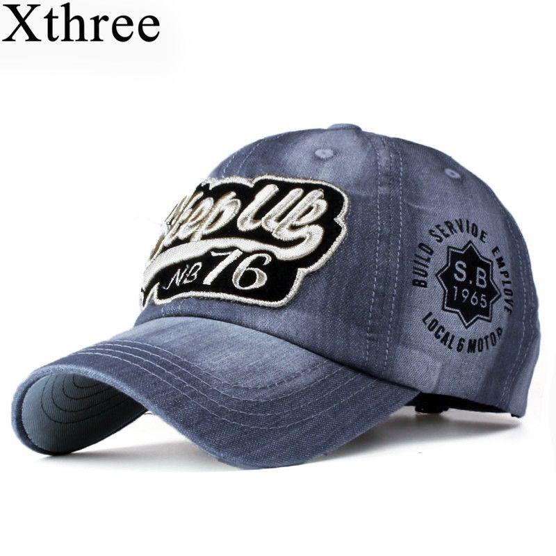Xthree noblen jeans baseball caps fashion hysteresenkappe hut für männer und frauen hut gorras casquette