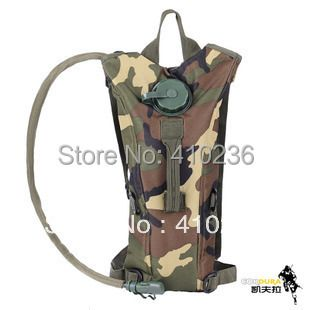 2.5L Jungle camouflage hydration backpack water bag with bladder non-toxic safety harmless Green food grade