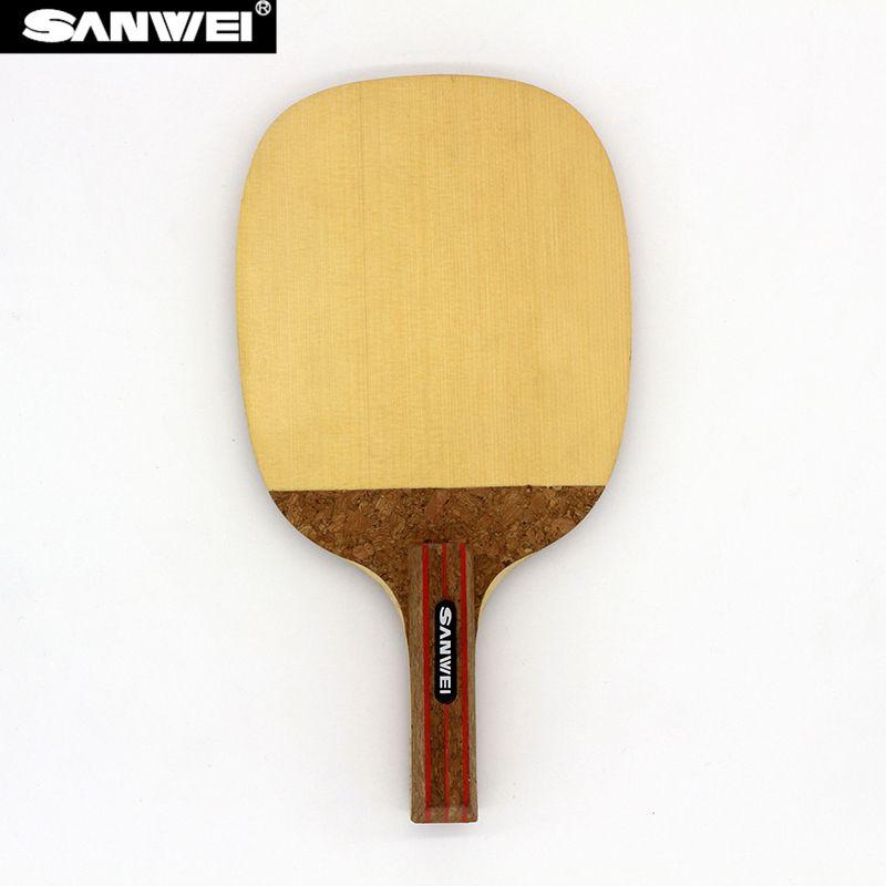 SANWEI R2 HINOKI Table Tennis Blade (1 Ply HINOKI) Japanese Penhold Solid Cypress Racket JS Ping Pong Bat