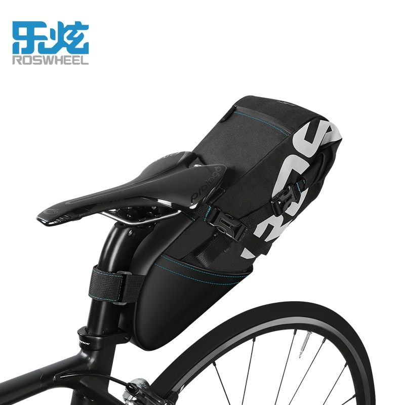 Roswheel Fahrrad Tasche MTB Rennrad Tasche 2018 8L/10L Wasserdicht Radfahren Gepäckträger-tasche Sattelstütze Heck Satteltasche Fahrrad-zubehör