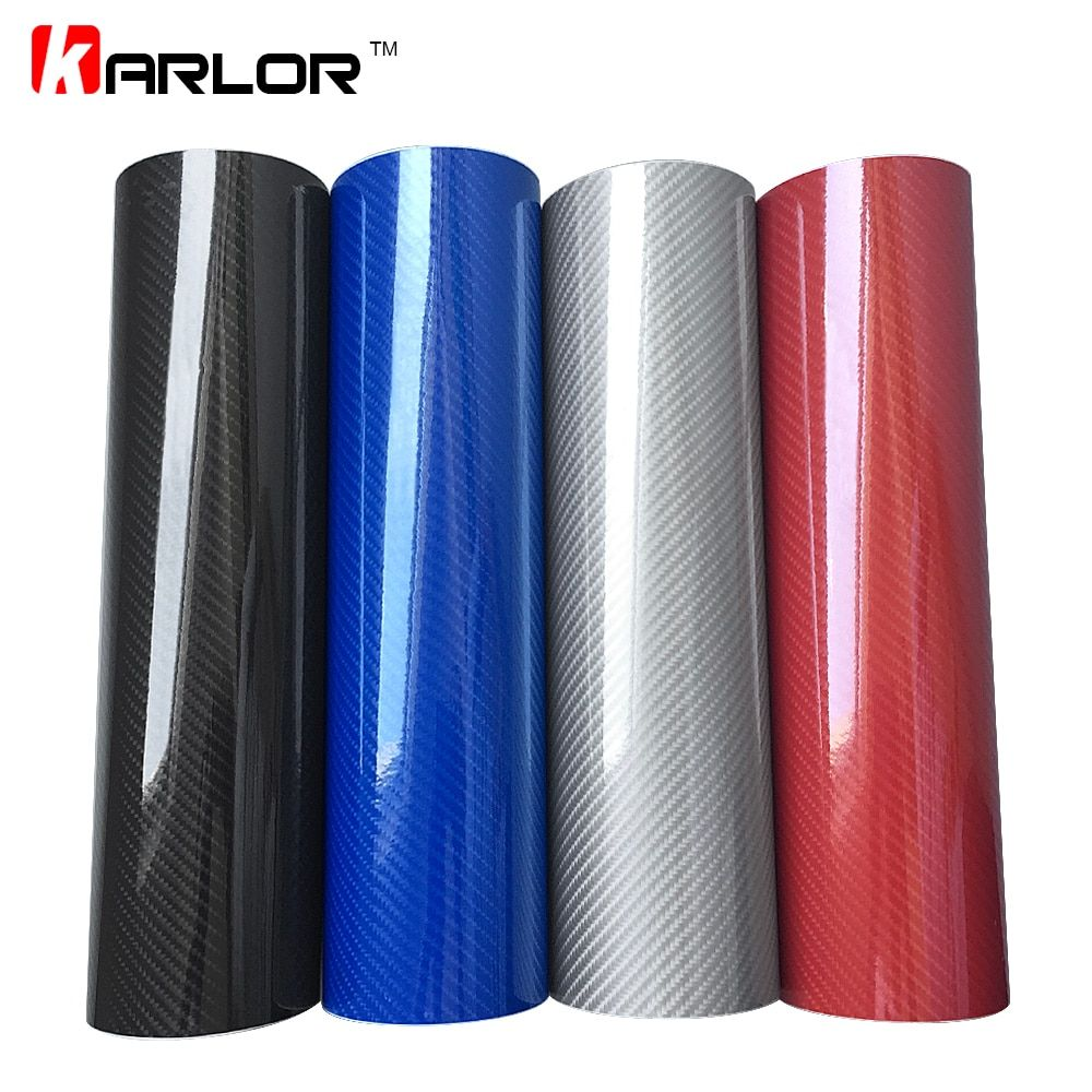 Car Styling 50*200cm DIY High Glossy 5D Carbon Fiber Vinyl Wrap Film Motorcyle Automobiles Car Sticker And Decals Accessories