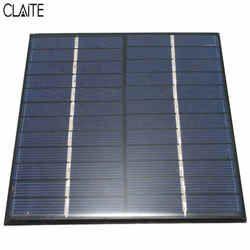 CLAITE Haute qualité 12 V 2 W 160mA Polycristallin de silicium Mini Panneau Solaire module Cellulaire Pour Chargeur DC Batterie DIY 136x110mm