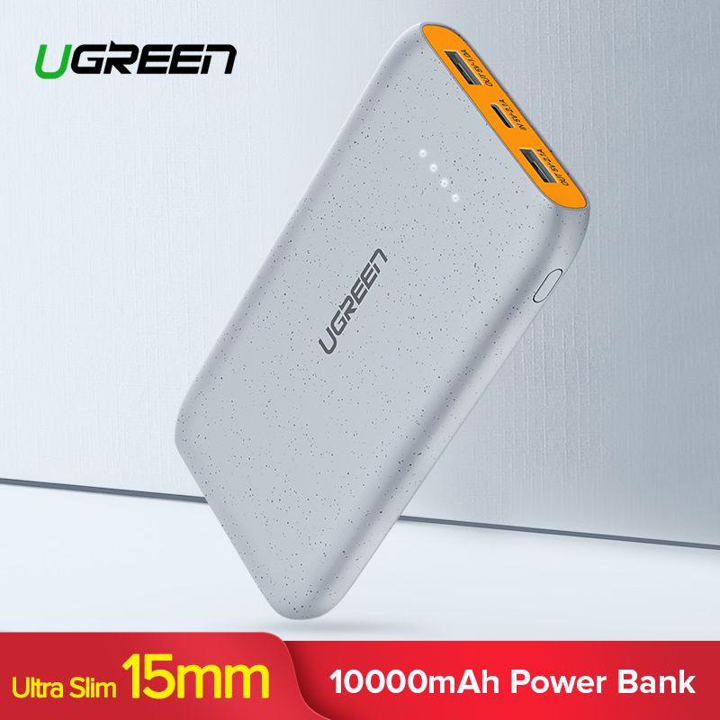 Ugreen 10000mAh Power Bank Dual USB Powerbank Slim Poverbank Portable External Battery Pack Charger For Xiaomi Mobile Phone