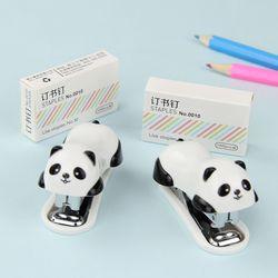 1 Unidades novela manual básico mini Panda Grapadoras set papel encuadernación carpeta papelería suministros de oficina
