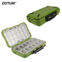 Goture New Design Fishing Tackle Boxes Double Layer 30 Compartments Lure Fishing Box S/M/L Fly Fishing Tackle Boxes Accessories