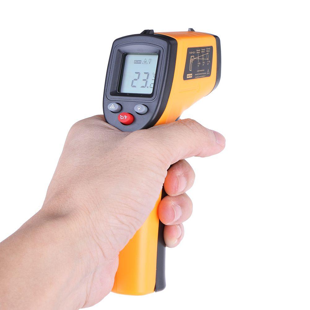 Sans Contact thermomètre infrarouge Laser Numérique GM320-50-380C Themperature Pyromètre IR Point Laser Pistolet Pour L'industrie usage domestique