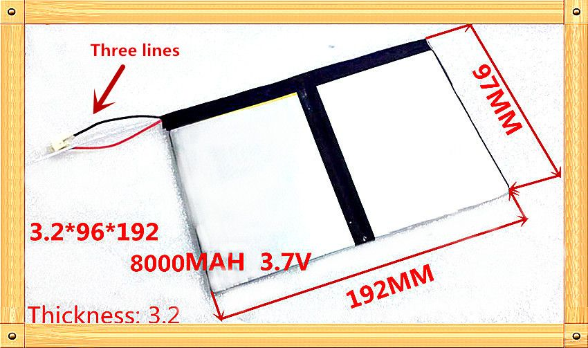 3.7v 8000mAh For Teclast X98 air 3G P98 3G Tablet PC Battery 3 wire X98 X98 AIR p98 X98 P98HD P98