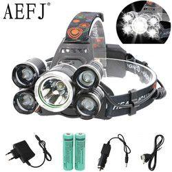 5000LM 3 LED 5 LED T6+2R5 Headlamp ZOOM Headlight Head Lamp lighting Light Flashlight Torches Lantern Fishing
