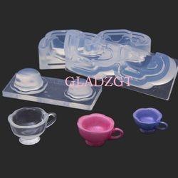 GLADZGT Anak + ibu cetakan Transparan DIY Tiga Dimensi cup Cetakan Cetakan Membuat Perhiasan Alat epoxy resin cetakan