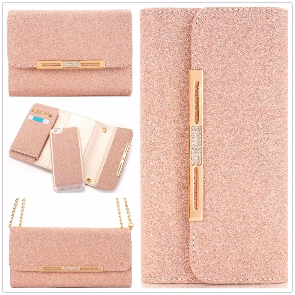 Neue Brieftasche Fällen Für iPhone 8 Plus 7 Plus 6 6 S Plus für Samsung Galaxy S8 Plus S7 RAND Glitter Nette Luxus Diamant Fällen abdeckungen