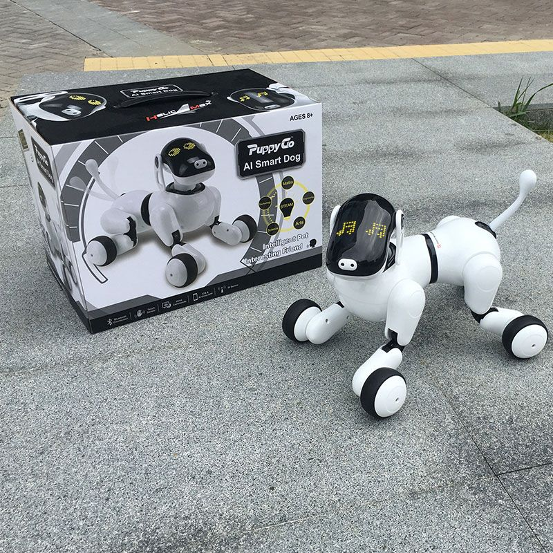 HeLICMax intelligent Robot Dog AI Electronic Pet Mobile APP manipulation Bluetooth Connect Speaker Multi-function Birthday Gift