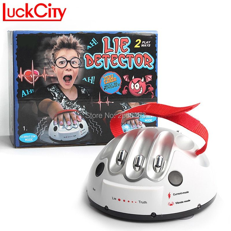 Test du polygraphe Tricky Drôle Réglable Adulte Micro Choc Électrique Lie Detector Shocking Liar Vérité Party Game Consoles Cadeaux Jouet