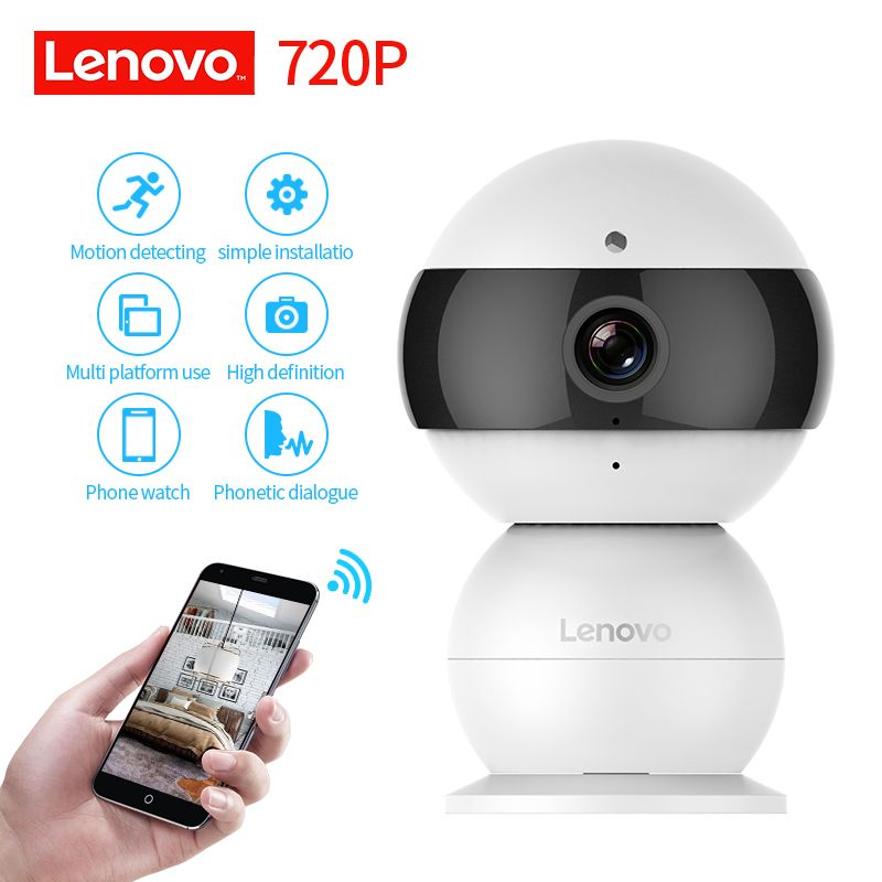 LENOVO Snowman IP Camera WiFi Wireless Mini HD 720P Security Camera Baby Monitor & IR-CUT Surveillance Camera Motion Detection