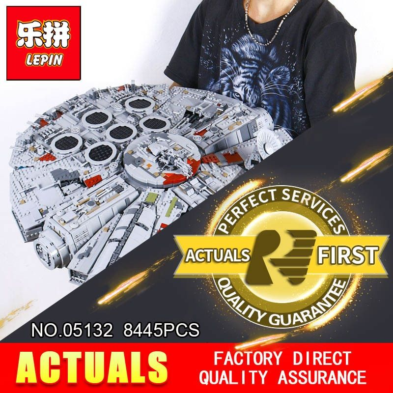 LEPIN 05132 New 8445Pcs Ultimate Collector's Destroyer Series Building Blocks Bricks Children 75192 christmas gifts