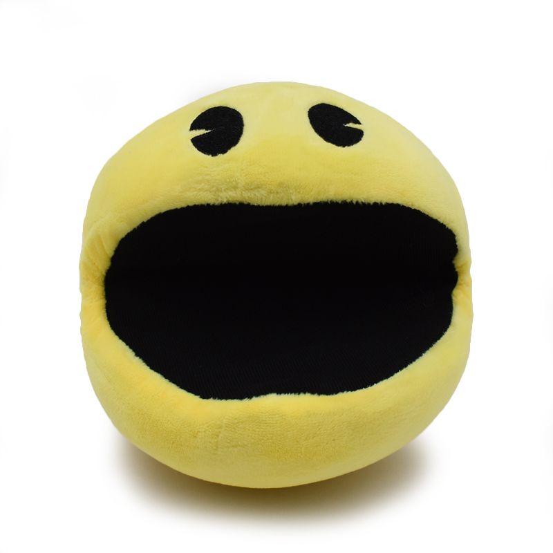 1 PCS Pixels Movie Pacman Stuffed Toy Doll And Pac Man Pac-man Smiling Face Plush Toys Q Bert Christmas Gifts