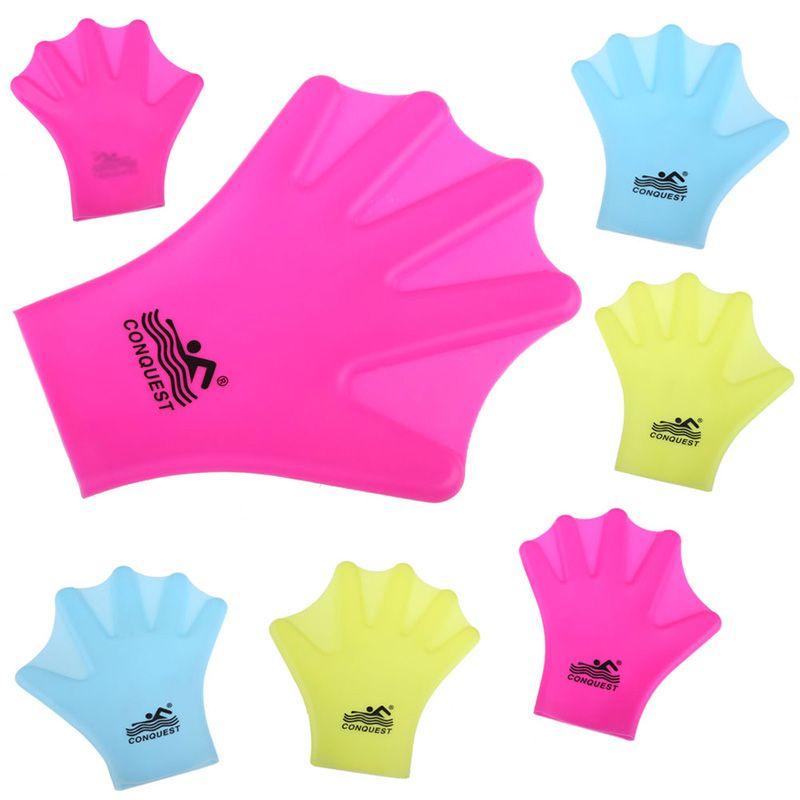 1 Para Schwimmen Schwimmhäute Handschuhe Erwachsene Schwimmen Finger Fin Hand Paddle Tragen Silicon Schwimmen Tauchen Handschuh Ausrüstung Surfen Flossen