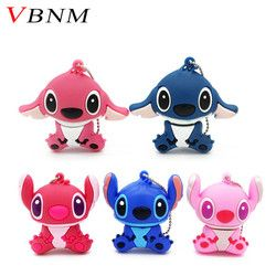VBNM historieta encantadora Lilo & Stitch Unidades Flash USB 32 GB 16G 8g 4 GB pen drive Memory Stick pendrive thumbdrives mini regalo