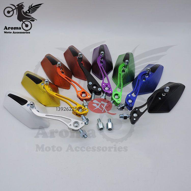 Coloré pit vélo scooter unviersal moto rcycle pièces moto rbike rétroviseurs moto cross sauvegarde miroir moto rétroviseur