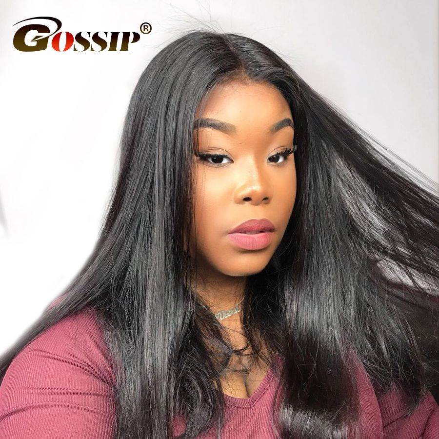 Straight Lace Front Wig 100% Human Hair Wigs For Black Women Affordable Lace Front Human Hair Wigs Remy 130/150 Density Lace Wig