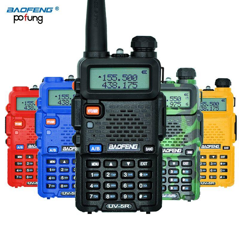 Baofeng uv-5r Walkie-talkies profesional CB Radios baofeng uv5r transceptor 128ch 5 W VHF y UHF de mano UV 5R para Caza radios