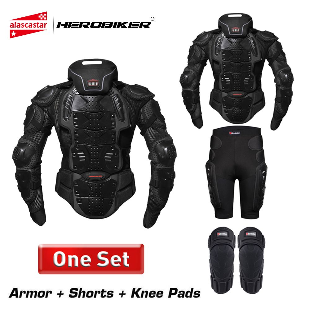 HEROBIKER Motorcycle Armor Protection Body Protective Gear Motocross Motorbike Jacket Motorcycle Jackets With Neck Protector