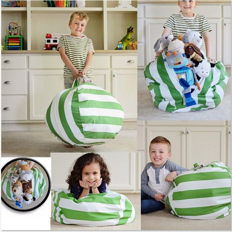 2017 most popular torage Stuffed Animal Storage Bean Bag Chair Kids Toy Storage Bag & Play Mat Clothes Organizer Tool stool seat