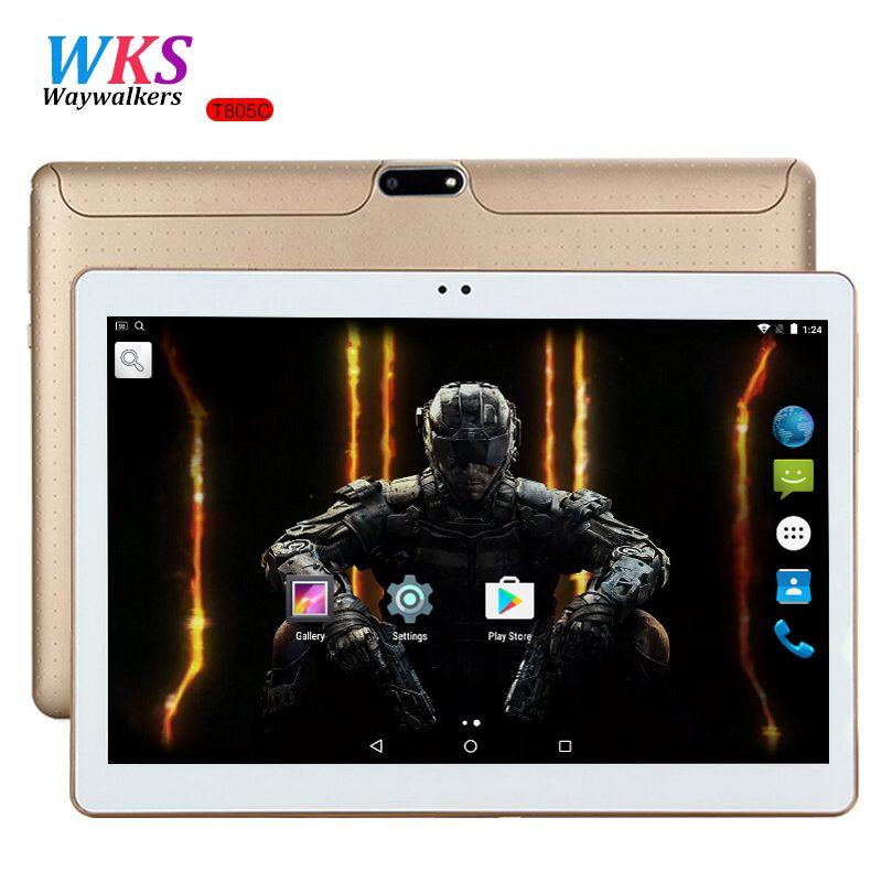 10 pouce tablet PC Octa base Android 7.0 4 GB RAM 64 GB ROM 8 Core Dual SIM Carte GPS Bluetooth Appel téléphone Cadeaux MID Comprimés 10 10.1