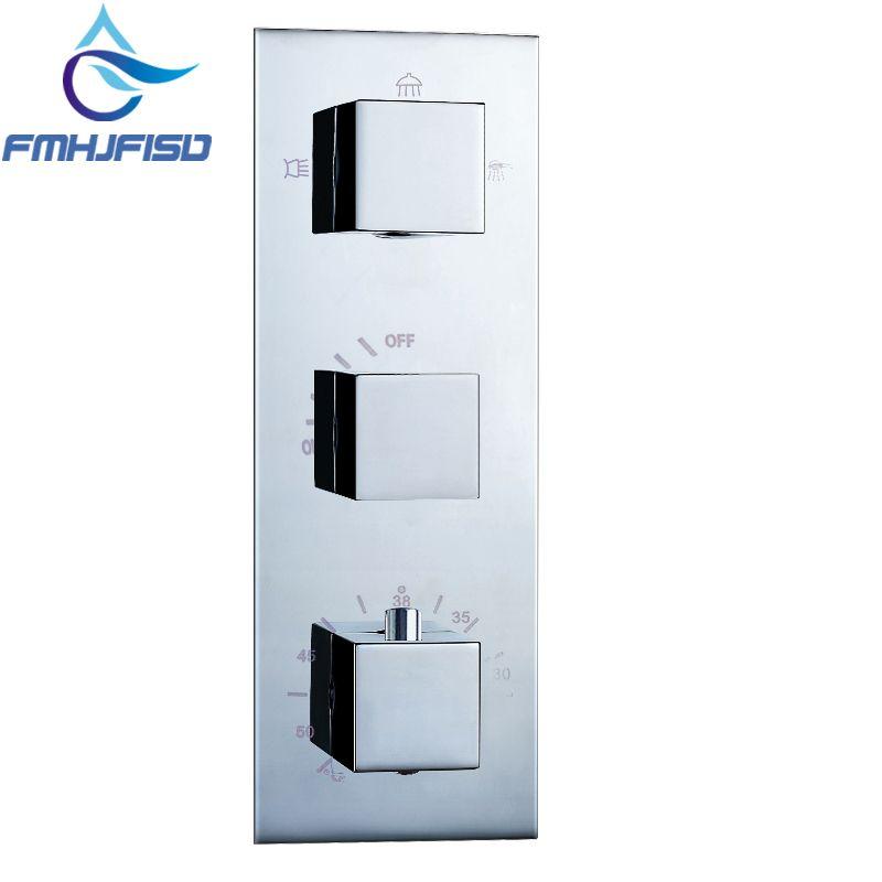 NEW 3 Ways Thermostatic Shower Faucet Control Valve Diverter Shower Valve Mixer
