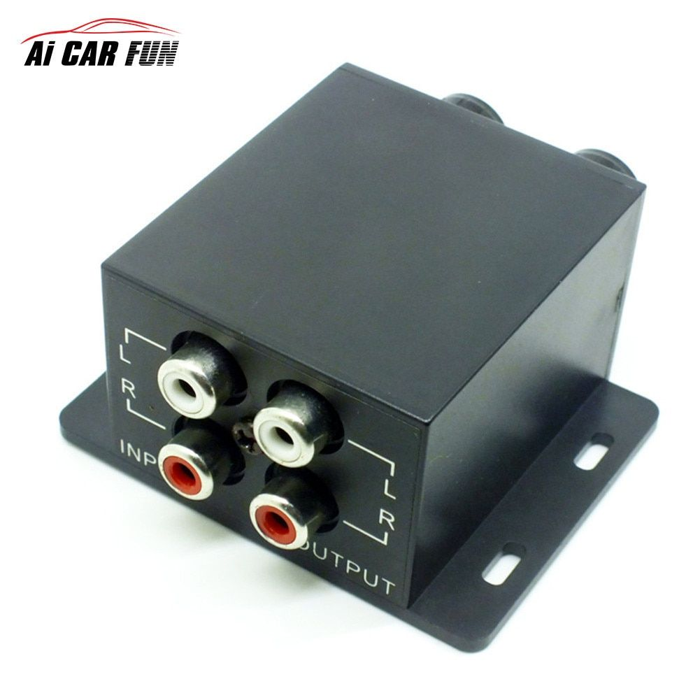 Auto Subwoofer Power Car Amplifier Audio Regulator Bass Equalizer Crossover Controller RCA Adjust Line Level Volume Home Use