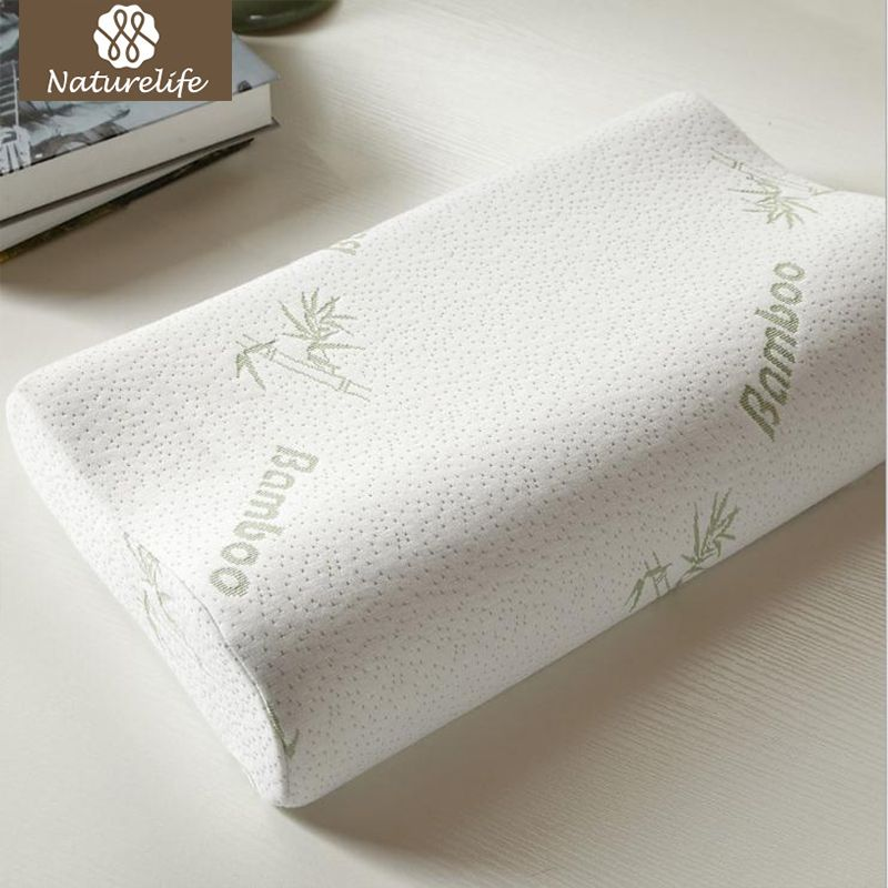 Naturelife Bamboo Fiber Pillow Memory Foam Pillows Healthy Breathable Pillow Orthopedic Neck Fatigue Relief Drop shipping