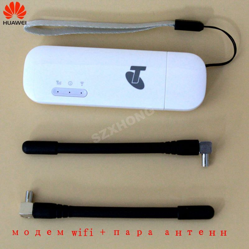 Huawei USB WIFI Modem E8372 E8372h-608 E8372h-153 4G LTE USB wifi Dongle 4G USB Modem plus a pair of antenna 4G Carfi PK E8377
