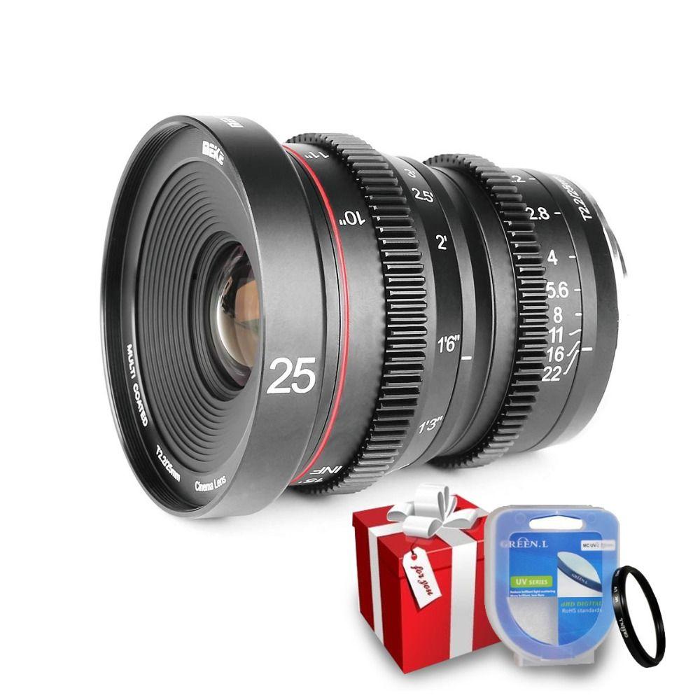 Meike 25mm T2.2 Manueller Fokus Porträt Cine Objektiv für Für fuji X-Mount/Für Olympus Panasonic M4 /3 montieren X-Pro1 X-Pro2 X-E1 X-A1
