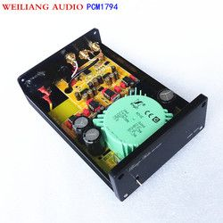 WEILIANG AUDIO & Breeze Audio PCM1794*2 decoder 192kHz 24bit Ak4118 Coaxial /optic  input ,RCA output to power amplifier SU2
