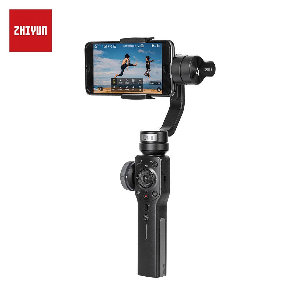 Zhiyun Smooth 4 Q 3-Axis Handheld Smartphone Gimbal Stabilizer for iPhone XS XR X 8Plus 8 7P 7 Samsung S9 S8 S7 & Action Camera